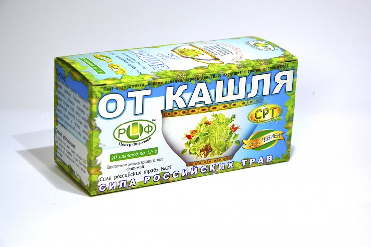 PHYTOTEA №25 For cough Herbal tea has anti-inflammatory and anti-bacterial action, facilitates sputum secretion.